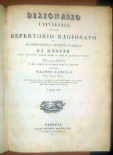 DIZIONARIO UNIVERSALE REPERTORIO GIURISPRUDENZA 1842 Merlin Carillo tomo XIII 13