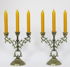 Kerzenleuchter 2 Stück Kerzenständer Tischleuchter Jugendstil Antik Messing Opti