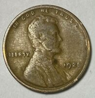 1925 Lincoln Cent Wheat Ears Reverse 1¢ Circulated Coin  (2896)