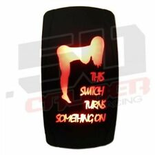 50 Cal Light Bar On/Off Led Rocker Switch Waterproof Orange Toggle Universal Utv