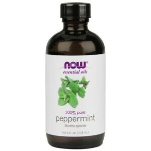 NOW Foods Peppermint Oil 4 fl oz 100% Pure FREE SHIPPING MADE IN USA