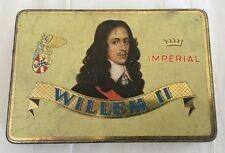 Vintage Willem II Imperial 10 Sigaten Amarillo Metal Box Valkenswaard Holland