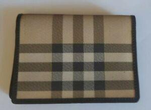 Authentuc BURBERRY card holder,wallet, purse Nova Check Leather VGC UNISEX