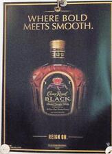 New Lot of 2 Store Display Paper Posters Ad Print  CROWN ROYAL Black