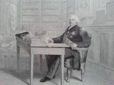 LOUIS XVIII ANTIQUE PRINT 19ème siècle