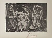 PABLO PICASSO HAND SIGNED * BLIND MINOTAUR LED BY.. * LITHOGRAPH