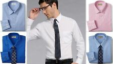Mens Business Shirt Van Heusen Tailored Fitted Cotton Rich Easycare Long Sleeve