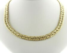"""Paolo Romeo Italy Gold Vermeil Sterling Silver Double Byzantine Necklace - 18"""""""