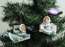 New 2 x Ceramic Angels Hanging Christmas Tree Ornament Decoration - FREE P&P