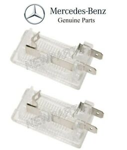 For Mercedes R107 560SL 86-89 Pair Set of Front Interior Dome Lights Genuine