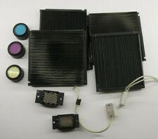 Beseler Dichro Head Parts - Fan Box Louvers Knobs Sockets Honeycomb Hex USED E24