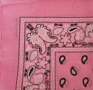 3 Bandanas  , Handkerchiefs Hankerchief paisley Bandana  size 22×22  black red