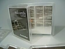 Valcambi Suisse 100 gram .999 Silver 10x10g Combibar Sealed In Plastic w/ Assay