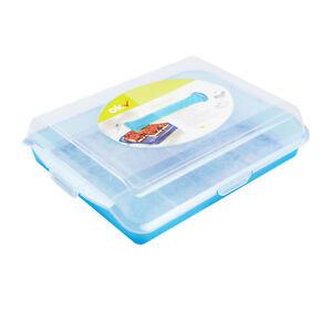 Kuchen Behälter Container Kuchenbehälter eckig Party-Butler Blau