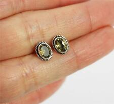 Pretty Solid 925 Sterling Silver, Citrine Stud Earrings jewellery  869
