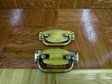 Antique Brass Color Furniture Drawer Bail Drop Swing Pulls Handle [Set of 2]