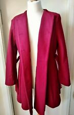 Gorgeous Caspsule Trench Swing Coat  Ladies Womens Size 14/16 Burgundy Ex. Cond.