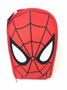 Official Marvel Spiderman Face Eva 3D Boys Nursery School Lunch Insulated Bag