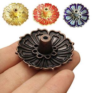 Lotus Stick Incense Burner 9 Holes Buddhist Incense Ash Plate Holder Home Decor