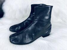 Maison Martin Margiela Tabi Ankle Boots Size 40 Black Leather Tabi Cleft Toe