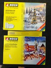 2 Boxes - Noch Winter Set and Flakes  Scenery kits 08758 08760