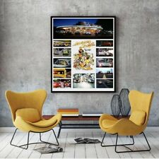 "Large Size 24""x32"" American Graffiti Collage Tribute Poster - Famous Cars"