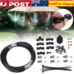 """16""""Outdoor Misting Cooling System Garden Irrigation Water Mister Nozzles Set AU"""