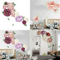 Peony Rose Flowers Wall Art Sticker Decals Kid Room Nursery Home Decor Nice Gift