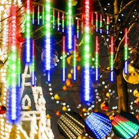 LED Meteor Shower Lights Falling Rain Drop Icicle Outdoor Garden String Light