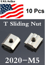 10 Pcs M5T Sliding Nut Block Slot 6Zinc Plated Carbon Steel Aluminum Accessories