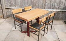 More details for 5 x cafe tables and 14 x chairs, industrial, contract restaurant furniture