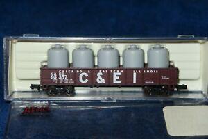 N Scale Atlas 35131 42' Gondola with load, C & EI 95357 Chicago & Eastern IL New