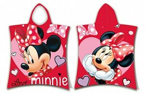 Disney Minnie Mouse Love Toddlers Baby Hooded Beach Towel Poncho