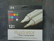 Spectrum noir Illustrator 12 Twin-tip Artist's Markers - Essentials