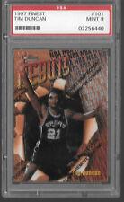 1997-98 Finest #101 Tim Duncan Rookie PSA 9 w/ Coating San Antonio Spurs 90s RC