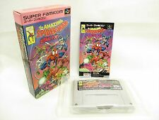 THE AMAZING SPIDER MAN LETHAL FOES Free Shippng /9337 Super Famicom Nintendo sf