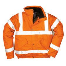 PortWest Men Hi-Vis Bomber Jacket Orange/Red/Yellow Various Size S463