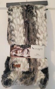 Koolaburra By UGG Tree Skirt Mina Faux Fur 54 In Gray White Thick