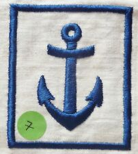 Insigne tissu ANCRE MARINE NATIONALE UNIFORME CHEMISETTE COLONIALE 78X67 mm 1940