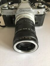 Canon AE-1 With Various Lenses Vintage Film SLR Camera