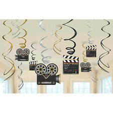 Hollywood Party Hanging Swirl Decoration Birthday Party Supplies ~ Camera Action