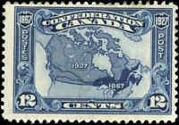 1927 Mint H Canada F Scott #145 12c Confederation Anniversary Stamp