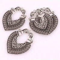 8pcs Antique Silver Filigree Mesh Flower Connector Link Charms 24mm AA101-3