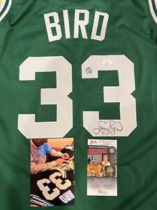 Autographed Larry Bird Signed Boston Celtics Custom Jersey JSA COA PHOTO PROOF