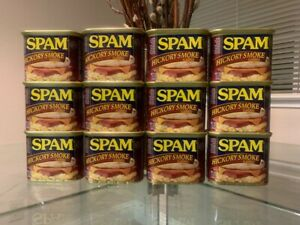 12 Cans- Spam Hickory Smoke Flavored 12 oz