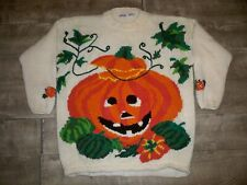 Vintage Honors Halloween Costume Sweater Mens Jack O'Lantern Pumpkin Size XLarge
