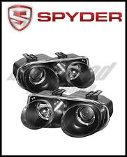 Spyder Acura Integra 98-01 Projector Headlights LED Halo -Black High H1 Low 9006