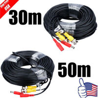 30/50M CCTV Security Camera Cable Video Power Extension Cable BNC DVR Wire Cord