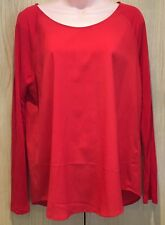 FRENCH CONNECTION Classic Women's Red chiffon Top Blouse Shirt Size M 10/12