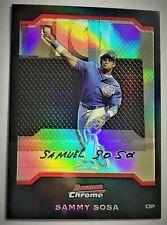 2004 Bowman Chrome REFRACTOR - SAMMY SOSA #73 - SP Cubs